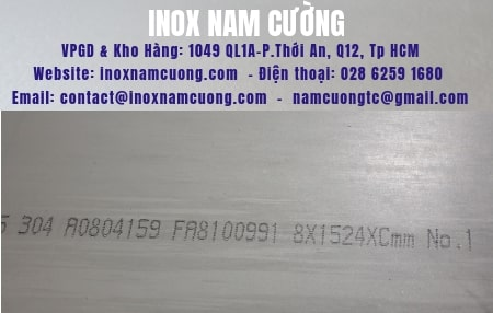 Stainless Steel-Sheet 304-No.1 8mm