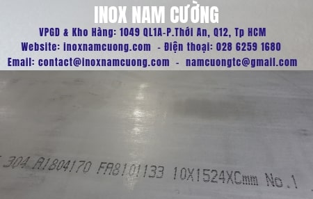 Stainless Steel-Sheet 304-No.1 10mm